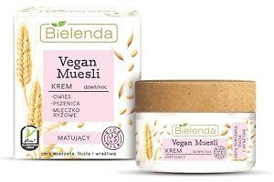 Bielenda Vegan Muesli Matting Face Cream Oat, Rice Milk Combination Skin 50ml