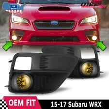 For 2015-2017 Subaru WRX OE Factory Fit Fog Light Bumper Wiring Kit Yellow Lens