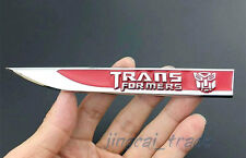 Pair Red Transformers Autobot Knife Side Car Fender Badge Emblem Sticker Decal