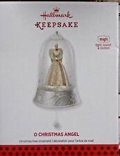 NEW 2013 HALLMARK CHRISTMAS ORNAMENT O CHRISTMAS ANGEL MAGIC LIGHT SOUND MOTION