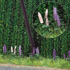 OO/HO Fields Scenery - Wild lupin plants (50 flowers) - Busch 1217 free post F1