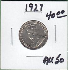 1927 Canada 5 Cents Coin - AU-50