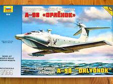 Zvezda 1:144 A-90 Ekranoplan Troop Carrier Aircraft Model Kit