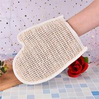 1X exfoliating bath glove natural sisal shower sponge cleansing body scrubber MT