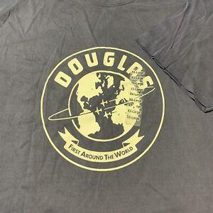 Vintage Boeing Douglas First Around The World T Shirt Heritage Collection 2XL