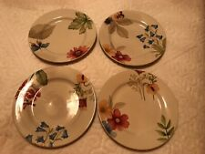 Longaberger Set Of 4 botanical fields luncheon plates Nib