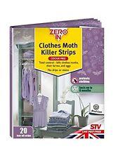 New STV Zero In Moth Killer Strips Odour Free Pk20 ZER429 6 Months Protection