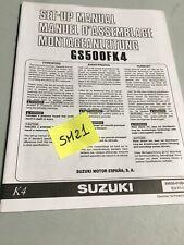 Suzuki GS500F K4 GSF 500 GS 500 F 2004 instruction preparation manuel montage
