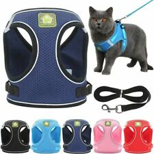 Mesh Padded Soft Puppy Pet Dog Cat Harness Breathable Collar Safety Strap Vest