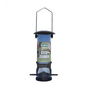 Supa Wild Bird Feeder. Metal lid & Base. Sturdy. Colour Choice