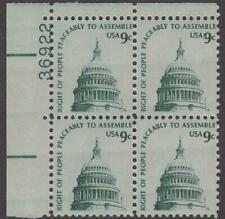 Scott # 1591 - Us Plate Block Of 4 - Right To Assemble Shiny Gum- Mnh - 1975