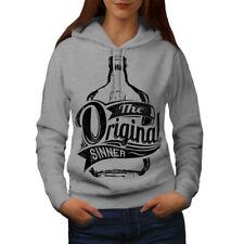 Wellcoda Unique Sinner Funny Womens Hoodie, Rum Casual Hooded Sweatshirt