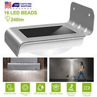 16 LED Solar Light Motion Sensor Garden Security Lamp Outdoor Waterproof 1-6Pack