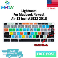 """Lightroom Hotkey Silicone Keyboard Cover Skin For Macbook 2018 New Air 13""""A1932"""