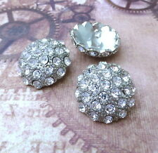 Pack of 2 Big Rhinestone Shank Wedding Button Decorative buttons