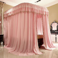 luxury mosquito net with U-shape rail frames bed netting lace light-shading new