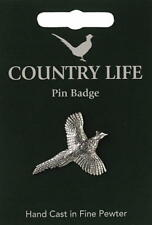 Pheasant Pewter Lapel Pin Badge