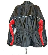 JOE ROCKET RS-2 MENS MOTORCYCLE REFLECTIVE RAIN GEAR JACKET ~ BLACK RED ~ XL