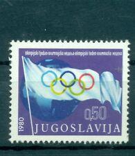 BANDIERA OLIMPICA - OLYMPIC FLAG YUGOSLAVIA 1980 Olympic Week Charity Stamp