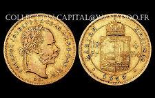 4 Forint/10 Francs 1879 KB, Hongrie/Magyar, Empire Austro-Hongrois. Or/Gold