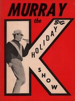 SUPREMES / TEMPTATIONS 1964 MURRAY THE K'S BIG HOLIDAY SHOW PROGRAM / NMT 2 MINT
