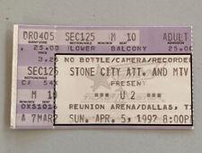U2 Pixies Rare Concert Ticket Stub Dallas, Tx 04/05/1992
