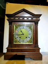Antique Lenzkirch Walnut Bracket Clock Ting Tang Movement