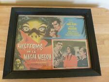 MISTERIOS DE LA MAGIA NEGRA-ORIG MEXICAN MOVIE LOBBY CARD. FRAMED!