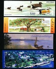 Aland  Finland 2000 - 03  Booklets Facit H12 - H15; ship, art, food  FDI Used