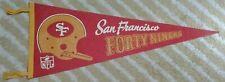 Vtg San Francisco 49ers Full Size single 1 bar NFL football Pennant