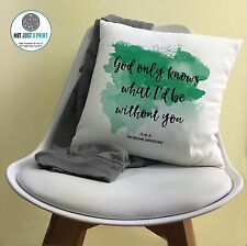 More details for beach boys god only knows song personalised print cushion 2nd cotton anniversary