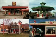 US Gas Stations Marble Falls & El Paso Texas W Virginia LA California - Postcard
