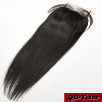 "Straight 4x4"" Hair Parting Lace Top Closure 8A Virgin Brazilian Remy Human Hair"