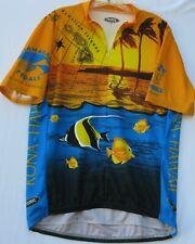 Primal Wear Kona Hawaii print cycling jersey with 3 back pockets men's size XL