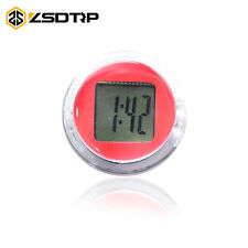 Red Waterproof Motorcycle Clocks Motorbike Mount Watch Moto Digital Clock