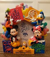 Walt Disney World Mickey Mouse and Friends Picture Holder Frame 3-D Minnie 4x6