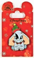 Disney Christmas Holiday Baby Dumbo Wearing Chirstmas Outfit Holding Feather Pin