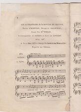 Musique. DALAYRAC,  Air et Polonaise de la Boucle de Cheveux. XVIIIème siècle.