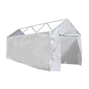 ALEKO Polyethylene Sidewalls White Walls 10X20 Carport Gazebo