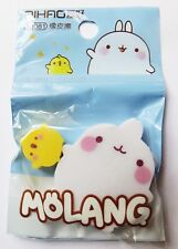 Kawaii import *Molang and Piu Piu* set of two cute erasers