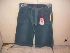 JUNIORS SZ 13/14 BY DESTINY JEANS GAUCHOS BELTED NWTS  CLOTHING
