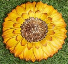 Garden Path Stepping Stone Wall Plaque Sunflower NEW 9""