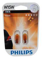 Philips 12396NAB2 blister de 2 ampoules WY5W 12V 5W ambré orange  - C2963