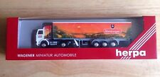 1980s HERPA F. WAGENER WERNBERGER TRACTOR TRAILER TRUCK, 1:87, WEST GERMANY, NEW