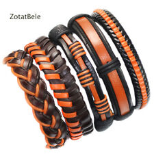 Wholesale lots 5pcs Womens Vintage Leather Bracelet Fashion Cuff Jewelry T30