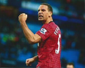 Rio Ferdinand Signed 10x8 Manchester United Photo - Man Utd