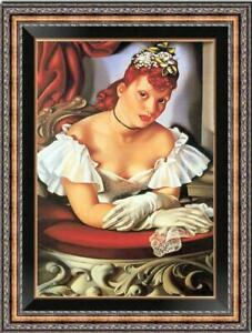 Hand-painted Oil painting Reproduction OF Tamara de Lempicka girl on Canvas
