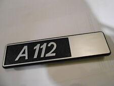Autobianchi A 112 A112 Schild abzeichen badge Zeichen