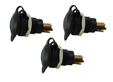 PACK of 3 Continental DIN-HELLA 12/24V 15A CHASSIS Mount Accessory Power Sockets