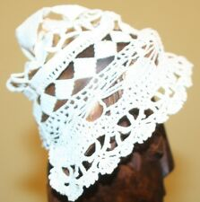 ANTIQUE  BABY OR DOLL HAND MADE CROCHET BONNET 1-GoRGeoUS!!!